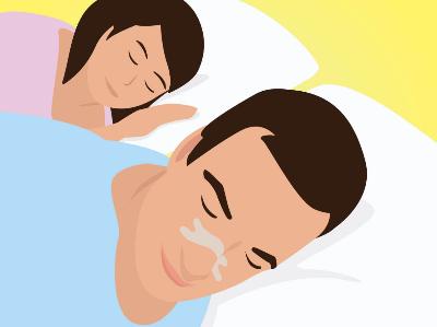 Anti snurk neuspleister